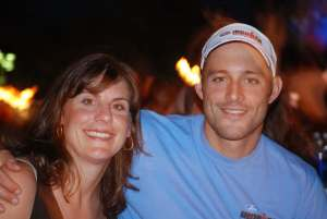 Andrea and SSSMST Alum hubby Jim at Kona 2007