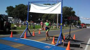 Anna at the Finish Line!