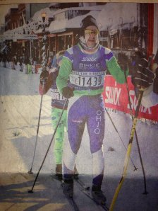 Mike crossing the line at the 2014 Birkie!
