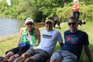 (l to r) Jeanne, Stern, and newly christened local pro Nick Glavac