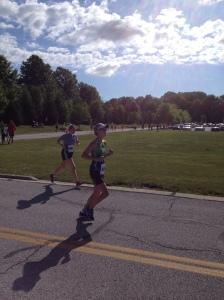 Bridget running in the Avon Lake sunshine