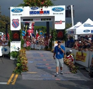 ...to THIS! (The unequivocal finish line at Kona)